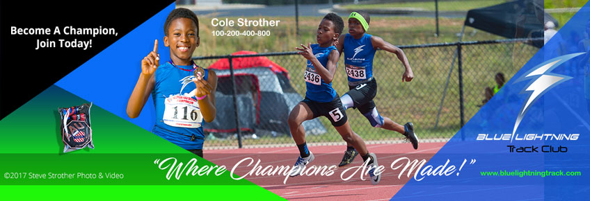 Cole Strother, 2017 AAU Georgia District and State 400 meters Bronze Medalist. 1:04.39