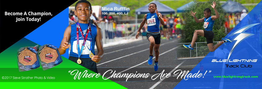 Mica Ruffin, 2017 AAU Georgia District and State 100 meters and Long Jump Champion.
