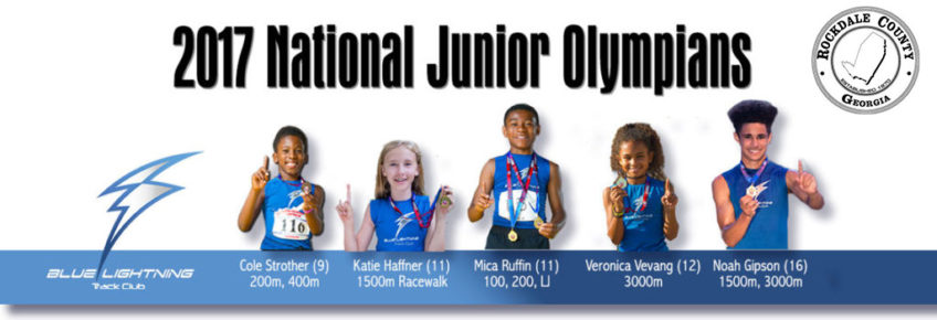 Blue Lightning Track Club 2017 AAU National Junior Olympians